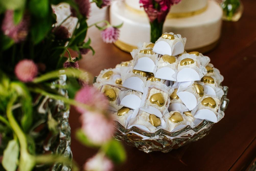tavolo a casa della sposa
